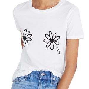 NWT Madewell Daisies Graphic T-Shirt SZ S